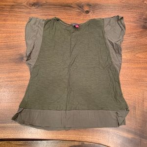 Vince Camuto Olive Green Tshirt